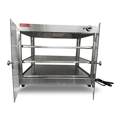 Heatmax Commercial Countertop Food Warmer Display Case With Water Tray 24x24x24 by HeatMax