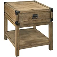 Treasure Trove Accents Carmel Burnished Natural Finish Trunk End Table