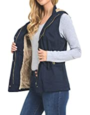 J. LOVNY Womens Utility Military Sleeveless Vest Anorak Lightweight (S-3XL)