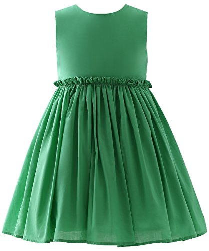 Abaosisters Girls Summer Dress Sleeveless Hollow Back Frock 4-11 Year Old Green 7-8 yrs Christmas Dresses For Girls Dillards
