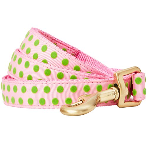 Blueberry Pet 2019 New Spring Velvety Polka Dot Flocking Dog Leash in Baby Pink, 5 ft x 3/4