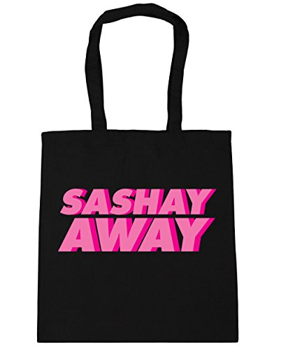 Bag sashay Bag Away 38cm X Shopping Beach Handles Black Capacity With 10 Liters 42cm Sashay For Fitness Hippowarehouse Uw85IExqP