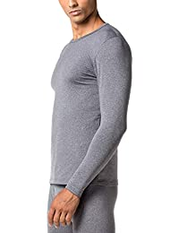 1070b2769 Men's Thermal Underwear Tops Fleece Lined Base Layer Long Sleeve Shirts 2  Pack M09
