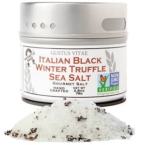 Gustus Vitae, Gourmet Salt, Italian Black Truffle Sea Salt, 2 Pack (76 g Each)