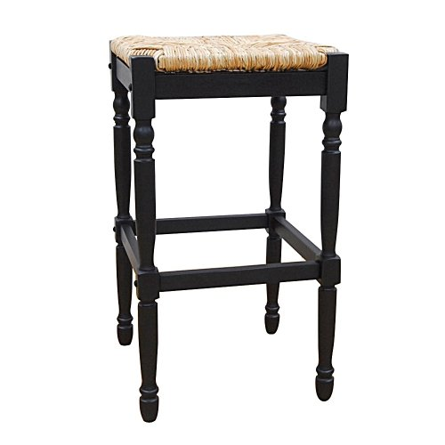 Carolina Cottage Hawthorne Barstool, 30-inch, Antique Black