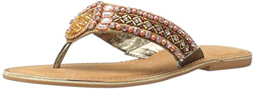 Naughty Monkey Women's Elsa Dress Sandal Bronze