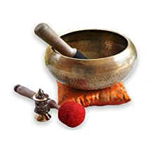 """7"""" Relaxing Yoga Meditation Om Peace Singing Bowl / Cushion / Rosewood Mallet/drum stick and free cushion"""