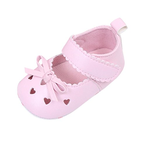 (Baby Walking Shoes for 0-18 Months,Newborn Infant Toddler Girls Soft Soled Non-Slip Sneakers Bowknot Crib Shoes (6-12 Months,)