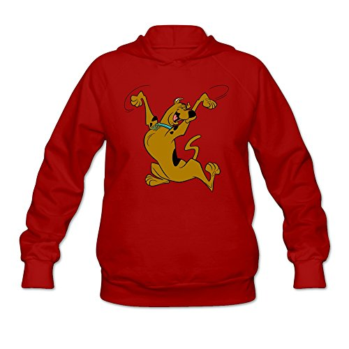 HeZone Women's Scooby-Doo Sweatshirt Hoodies Red L