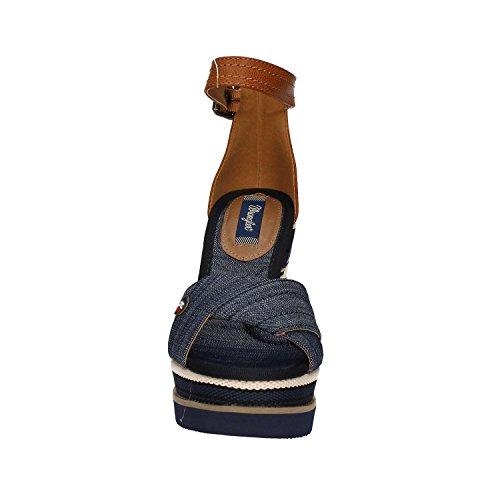 Wrangler WL171662 Zapatos De Cuña Mujer Blue