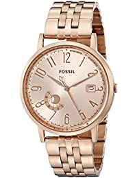 Fossil Women's ES3789 Vintage Muse Analog Display Quartz Rose Gold Watch