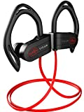 Workout Headphones, Wireless Bluetooth Earbuds for Running and Gym - Best Sport Earbuds for Men & Women - Waterproof IPX7 Sports Earphones - Noise Cancelling Headset for iPhone & Android