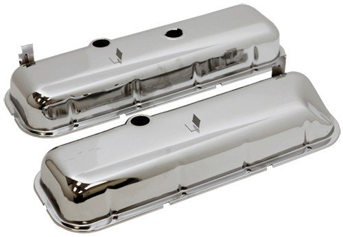 1965-72 Chevy Big Block 396-427-454 Tall OEM Style (Recessed Corner) Steel Valve Covers - (Big Block Valve Cover)