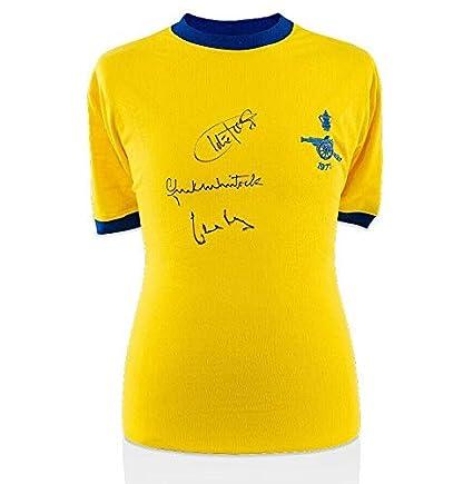 ea53a2ec0 Arsenal Legends Triple Signed Shirt - Charlie George, Frank ...