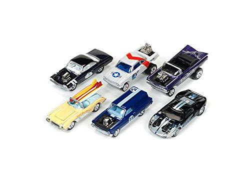 Street Freaks 2017 Release 1B Set of 6 Cars 1/64 by Johnny Lightning - Chevrolet 1964 Convertible