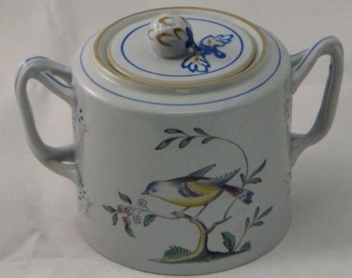 Spode Queens Bird (Y4973 Older) Sugar Bowl W/Lid