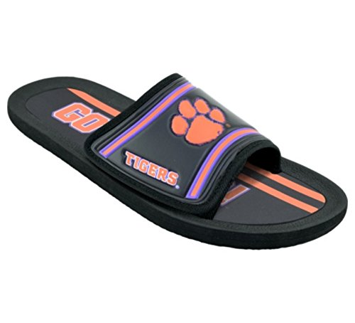 Campus Footnotes Men's Legacy Sport Shower Sandal Slides (Medium 9-10, Clemson Tigers)
