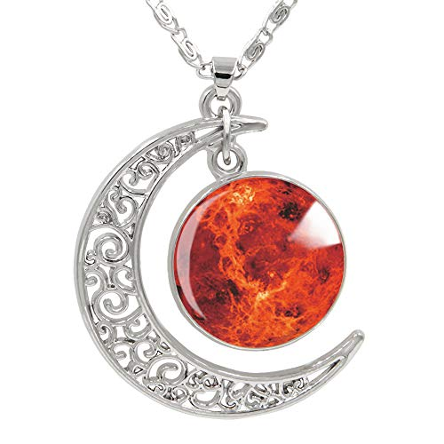 FANSING Womens Marvelous Necklace Mars Pendant Necklaces