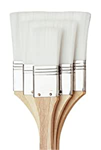 Loew Cornell 1170 Brush Set, White Nylon, 3-Pack