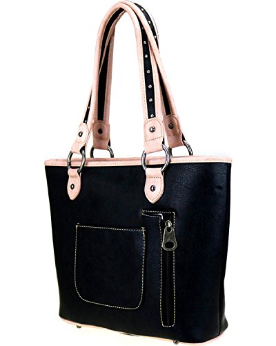 Concealed West Montana Black 8317 Cut Out Inlay Women's Carry Cf Matching Handbag Mw354g vAqYdfwqr7