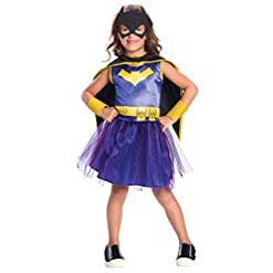 Rubie's Costume Girls DC Comics Batgirl Tutu Dress Costume, Small, Multicolor (630885)