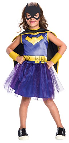 Rubie's Costume Girls DC Comics Batgirl Tutu Dress Costume, Small, Multicolor -