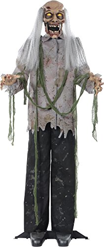 animated lifesize zombie halloween prop
