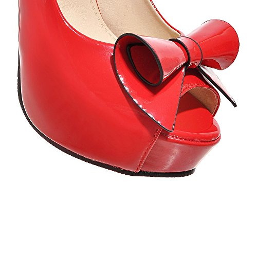 plataforma Fashion Heel mujer plataforma Heel Red Fashion SHIwSqz5