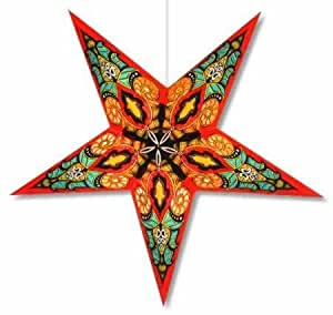 Star lights red mango paper star lamp lantern for Paper star lamp
