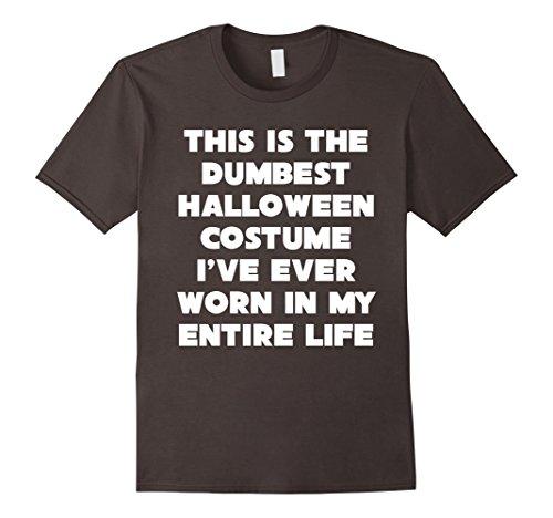 Mens Sarcastic Halloween Costume T-Shirt Costume Contest Tee Medium Asphalt