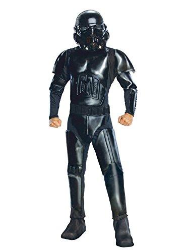 Star Wars Adult Deluxe Shadow Trooper Costume, Black, Standard ()