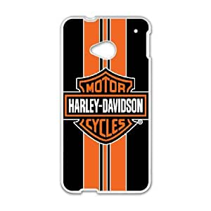 HTC One M7 Phone Case White Harley Davidson HJF687791