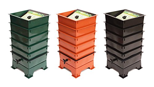 ray GREEN, BLACK, TERRACOTTA Worm Composter ()
