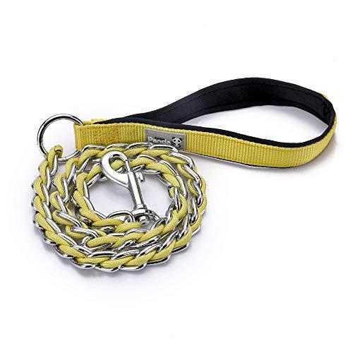 S-etovus Dog Leash Metal Anti-Biting Rope Durable Stylish (Yellow) ()