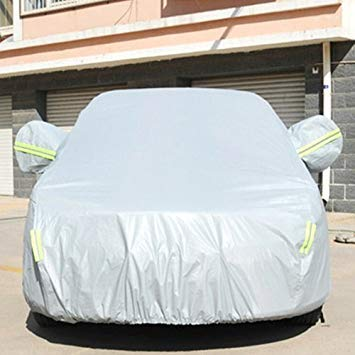 Uniqus PVC Anti-Dust Sunproof Sedan Car Cover with Warning Strips, Fits Cars up to 4.1m(160 inch) in Length