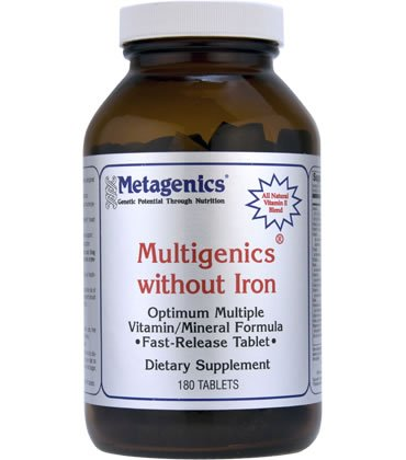 Multigenics without Iron 180 Tablets - Metagenics