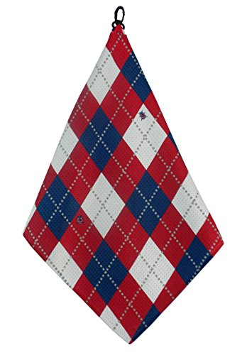 Red White Blue Argyle Print Microfiber Towel BeeJos product image