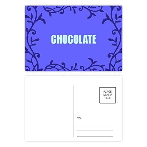 Color chocolate nombre postal tarjeta postal rama tótem