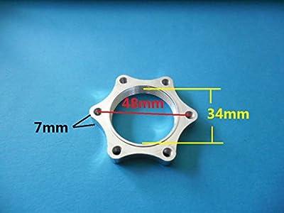 Scooter / Electric-bike double hub nut Euro Diameter 48mm thread Disc brake rotor adaptor mount left Alum