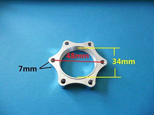 8fun Scooter/Electric-bike double hub nut Euro Diameter 48mm thread Disc brake rotor adaptor mount left ()