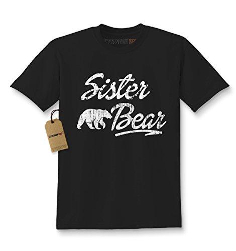 Sister Bear - Expression Tees Kids Sister Bear T-Shirt Medium Black