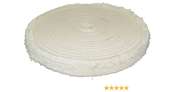 Woodstock D3088 8-Inch by 40 Ply by 3//4-Inch Hole Soft Muslin Buffing Wheel