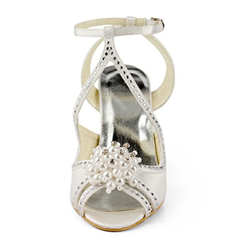 8cm Heel Donna Col Ivory Tacco Minitoo Scarpe qxPR1wayX