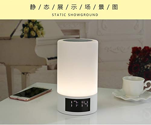 xingganglengyin Wireless Bluetooth Speaker Smart LED Bedside Light Touch Colorful Light with Alarm Clock Display Subwoofer by xingganglengyin (Image #1)