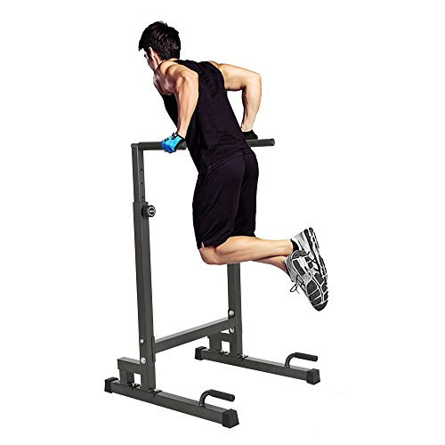 Lucky Tree Adjustable Strength Training Exercise Power Rack Exercise Stand Bar for Home Gym
