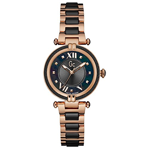 Guess Gc Collection Women's Rose Black Watch Y18013l2
