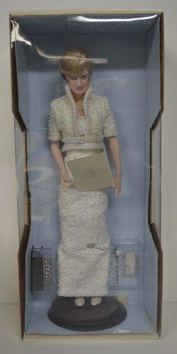 Franklin Mint Diana Princess of Wales Porcelain Portrait Doll 1998 (Princess Diana Porcelain)
