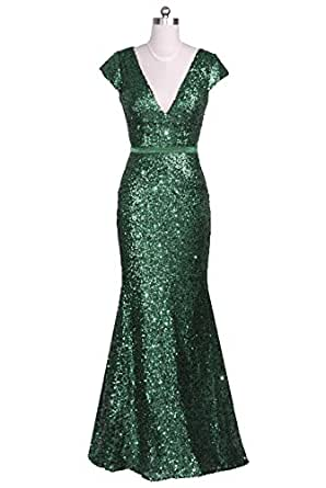 Amazon.com: Vampal Emerald Green Long Fully Sequined Cap