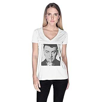 Creo Sam Smith T-Shirt For Women - L, White