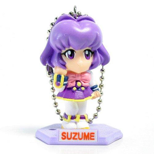 Cyber Team in Akihabara Keychains - Suzume Sakurajosui (Purple Hair)